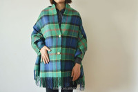 100% acrylic plaid ladies winter ponchos and shawls