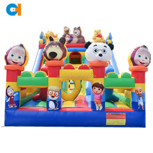 Best selling cartoon Inflatable big fun city , amusement inflatable playground, amusement park inflatables