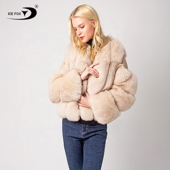 Short Winter Real Fox Fur Coats Women Warm Natural Fur Jacket Female fur  winter coats women