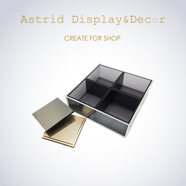 Hot Selling Fashion Style Earring Acrylic Box