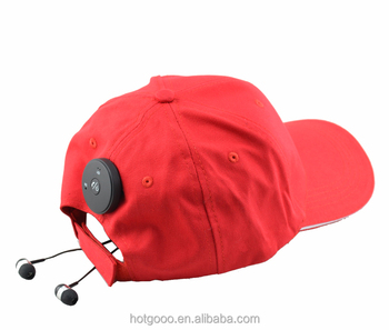 Langder sports baseball caps hats with music bluetooth earphones