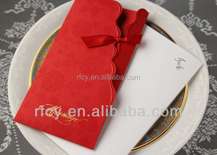 Chinese sytle invitation Use for wedding,Paper making invitation,Luxury card