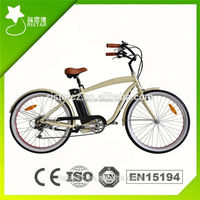 New Chopper 26inch 36V 250W electric beach cruiser bike for old person