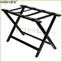 Heavy Duty Extra Wide Bamboo Luggage Rack/Folding Luggage Shelf/Homex_FSC/BSCI Factory