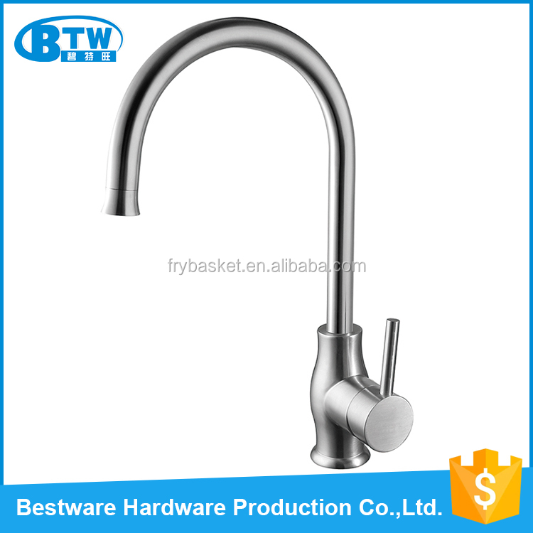 European standard top quality 304 stainless steel kitchen faucet commercial sample tap