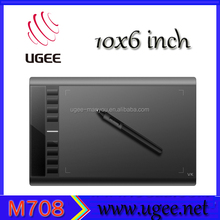 UGEE M708 2048level black color Pen Pressure kids educational pc pad