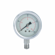 General stainless steel industrial vibration proof pressure gauge for lpg and air
