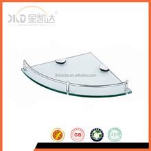 Glass tray,Corner glass shelf, stainless steel fittings TP-003