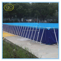 Outdoor portable PVC rectangular large inflatable swimming pool