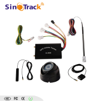 GPS tracking system with fuel level sensor for truck fuel monitoring