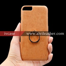Stand Phone Case for Back Iphone 6 Leather with Metal Ring