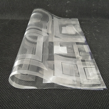 Printed PVC film for table cover protecting the glass directly from factory