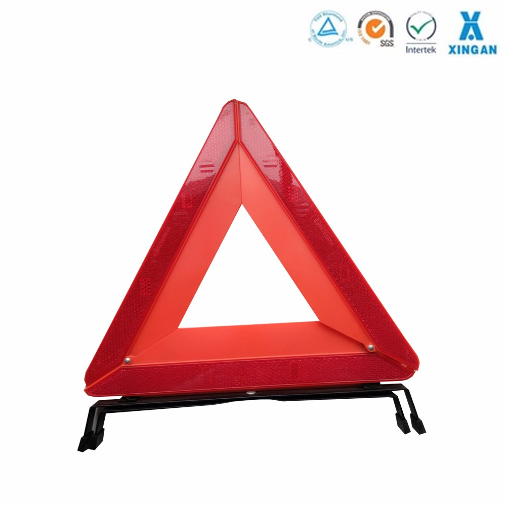 Red safty reflective warning triangle