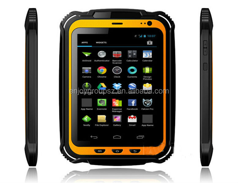 Military Quality, Rugged Waterproof 7 inch smart android tablet rfid reader