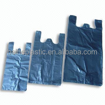 HDPE Plastic black t-shirt Carry garbage Bags Manufacturer