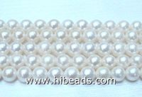 2016 high quality freshwater nutural pearls white pearls strands china supplier LPS0088-0057-1