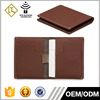 Custom Slim Genuine Leather Wallet Minimalist RFID Blocking Credit Card Holder With put tap band