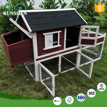 Commercial Wooden cages Wooden Chicken House With Run Cage