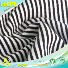 China Supplier Knitting Plain Yarn Dyed Stripe 95 Cotton 5 Elastane Fabric for T-shirt