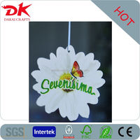 best promotional hanging perfumed tags with company logo