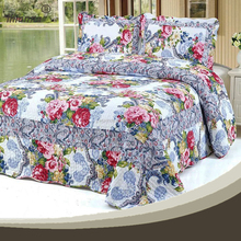 3d flower ribbon embroidery bedding sets
