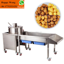 mini automatic flavored caramelized popcorn balls making machine