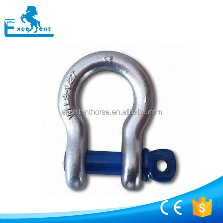 US Type Bow Shackle G209 with screw pin