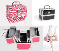 Aluminum Lady Girl Women Cosmetic Makeup Jewelry Case