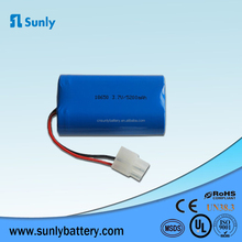 OEM 1S2P 3.7V 5200mah Li ion 18650 Battery Pack 3.7V with samsung cell