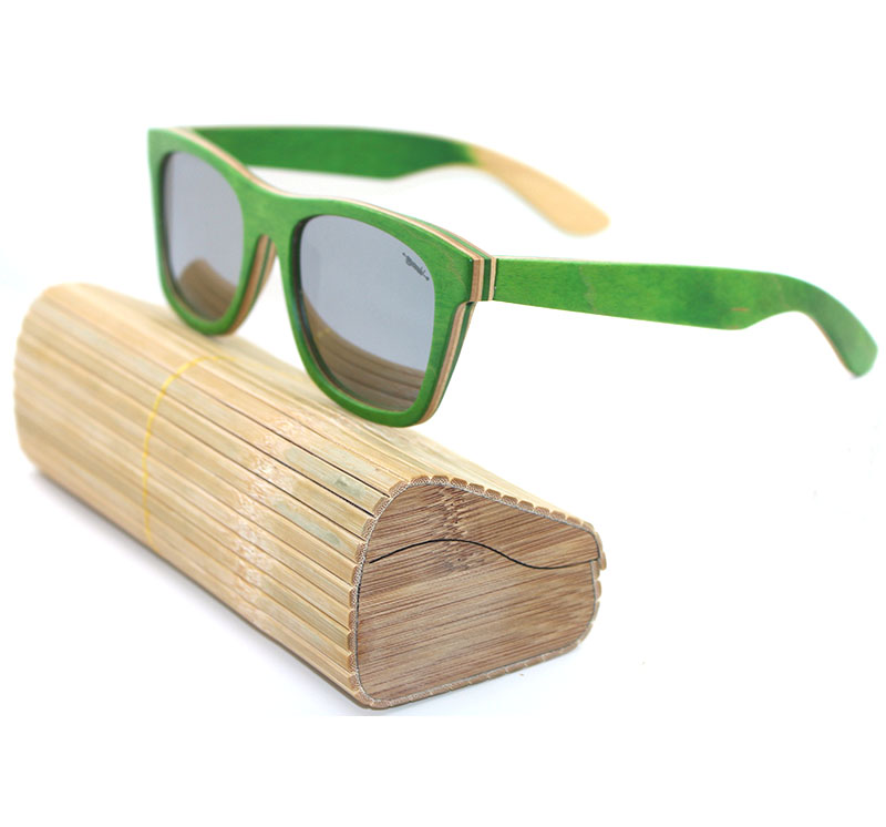 100% handmade vintage branded laminated maple skateboard wooden sunglasses with uva/uvb polarized lens