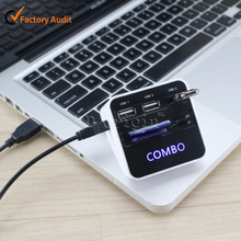 Portable Hight speed card reader 3 ports usb 2.0 combo box hub driver