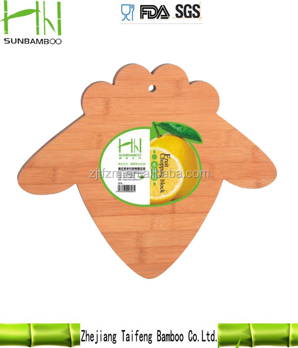 Natural nanzhu bird shape bamboo chopping block, pvc cutting board