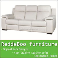 hot recliner split leather sofa design