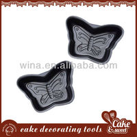 Butterfly shape metal pastry mould