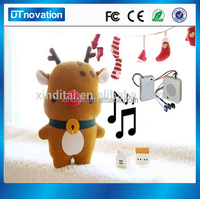 Battery operated animated christmas singing animal toy