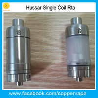 Coppervape squape rs great flavor hurricane v2 clone Side filling hussar single coil rta 2017 new