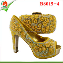 B8015-4 Wholesale Shoes Made In China Yellow Wedding Shoes Hot