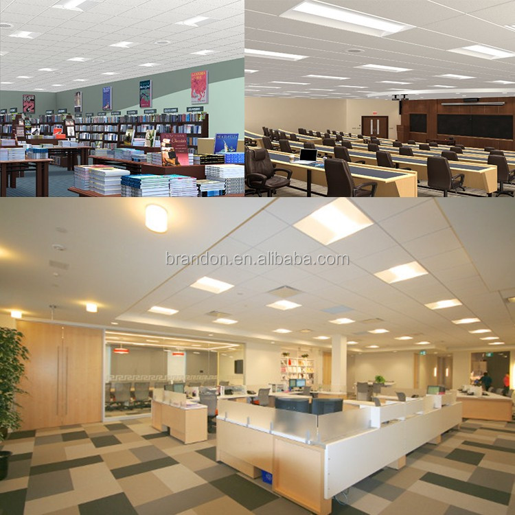 50W LED panel lighting DLC certificates and 5 years warranty 2X2 led / 2x4 led troffer retrofit kit