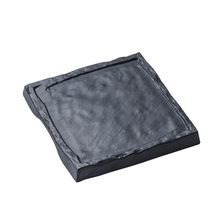 Deep black plastic square plate dinnerware tableware