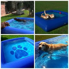 customized style pvc summer swimming pool inflatable dog pool
