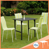 High end 4 seater outdoor restaurant furniture
