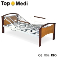 Automatic Electric Hospital Turn-over Home Care Nursing Bed with wooden head/foot board of Hospital Bed for patient