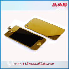gold plating kit for iphone 4s lcd with housing and home button golden color