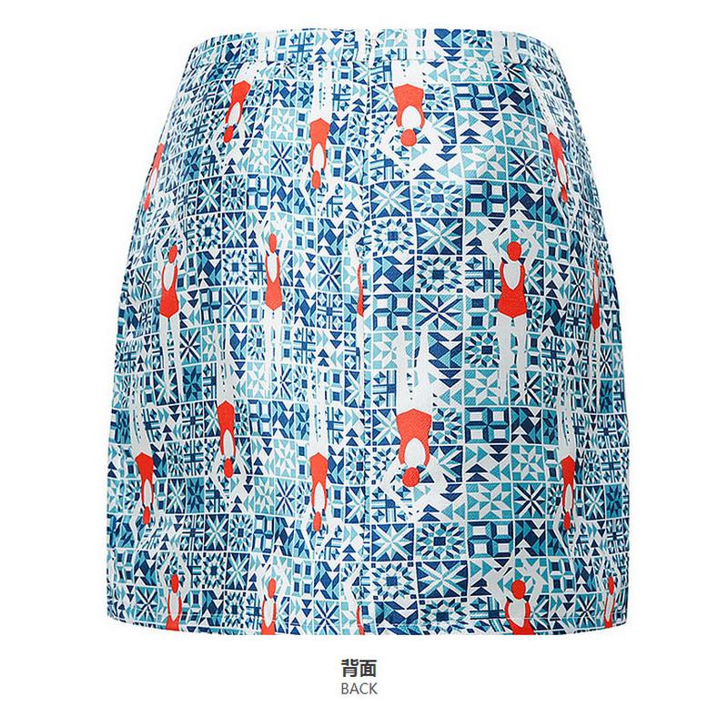 Guangzhou wholesale print mini skirt with invisible zipper at back for girls