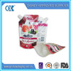 stand up zipper bags with air valve/standing pouch with spout/plastic packaging bag