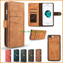 Retro Split Multi card Wallet leather case for iphone 6 6plus
