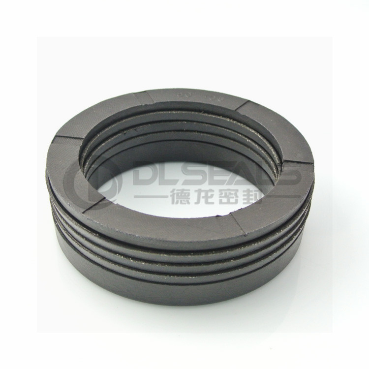 DLseals factory NBR fabric FKM rubber food grade PTFE V rings Vee packing seal set