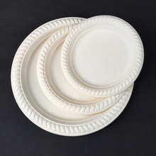 Disposable Biodegradable Corn Starch Tableware 9 inch Round Plate