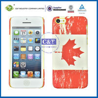 C&T national flag style for iphone 5c light up cell phone cases