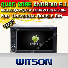 WITSON Android 5.1 CAR DVD For Universal Double Din WITH CHIPSET 1080P 16G ROM WIFI 3G INTERNET DVR SUPPORT